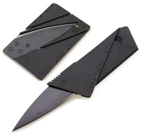 Aryshaa Credit Card Multifunctional Pocket Knife Wallet Multi Tool Camping Survival Tool - (Pack of 1)