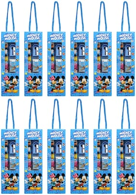 Asera Mickey Mouse Stationery Gift Pack for Kids for Birthday Return Gifts Mickey Mouse Theme Party (Pack of 12)