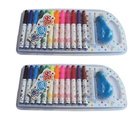 Asera Spray Cum Sketch Pen with Stencils (2 Sets)- Birthday Return Gifts for Kids