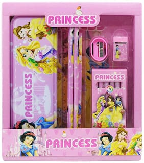 Asera Stationery Gift Pack for Kids for Birthday Return Gifts (Pack of 1) (Princess Theme)