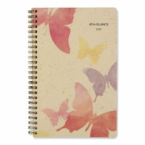 AT-A-GLANCE Watercolors Weekly/Monthly Planner 8 1/2 x 5 1/2 Watercolors 2020