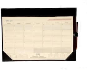 "AT-A-GLANCE Monthly Desk Pad Calendar, 19"" x 13"" (Black)"