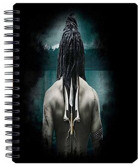 Aurra Lord Shiva Spiral A5 Notebook (Pack Of 5)