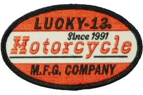 Authentic LUCKY 13 Moto 13 Sew On and Glue On Patch NEW