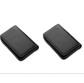Card holders buy leather visiting wallet atm business card av enterpises black leather 2 card holder reheart Choice Image