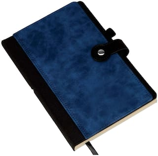 B73 - Premium notebook with card holder, bookmark, pen holder (Can be laser engraved)