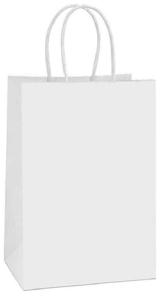 Bagdream Small Paper Gift Bags 50Pcs 5.25X3.75X8 Inches Kraft Paper Bags Party B