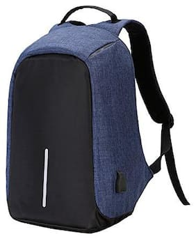BALAsons Anti-Theft School Bag I Backpack (Navy Blue)