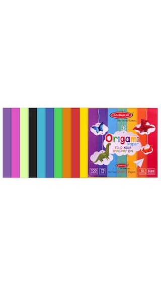 Buy Bambalio Origami Paper Pack Of 400 Sheets Smooth Finish 75 Gsm