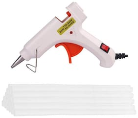 Bandook Glue Gun 20W with 20 Hot melt glue gun on/off button and indicator