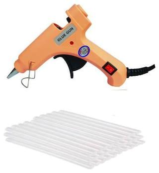 Bandook Glue Gun 20W with 30 Hot melt glue gun on/off button and indicator