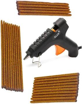BANDOOK Glue Gun 40W with 25 Golden Glitter Stick(Leak Proof)