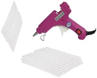Bandook Glue Gun 20W with 40 Hot melt glue gun on/off button and indicator