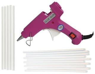 BANDOOK GLUN MAGENTA 20W 20WATT WITH 15 TRANSPARENT STICKS Standard Temperature Corded Glue Gun (7 mm)