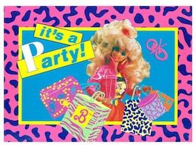 BARBIE VINTAGE Animal Print INVITATIONS (8) ~ Birthday Party Supplies Invites