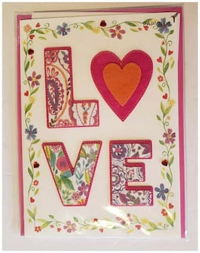 Beautiful Papyrus Valentine's Day Card NEW