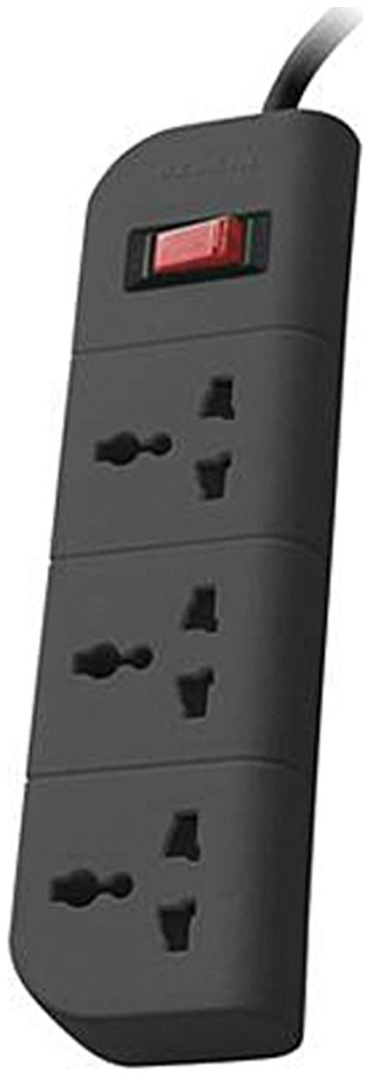 Belkin 3 Socket Surge Protector  Grey  by Orange E Store