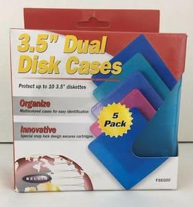 Belkin 5 Pack 3.5 Dual Diskette Case Media Storage F8E020 Multi Color