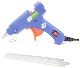 billionBAG Hot Melt DIY MINI Glue Gun kit 20 Watt With 2 Glue Sticks For Paper & Cloth;School Projects High-Tech Qick Repairs Professional Electronic Standard Temperature Corded Glue Gun