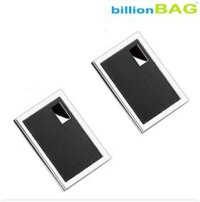 billionBAG | High Quality | Pack of 2 | Steel Leather ATM 6 Card Holder