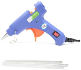 billionBAG Hot Melt DIY MINI Glue Gun kit 20 Watt With 4 Glue Sticks For Paper & Cloth;School Projects High-Tech Qick Repairs Professional Electronic Standard Temperature Corded Glue Gun