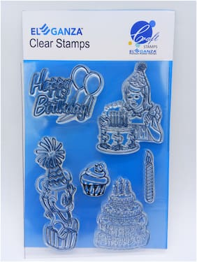 Birthday Wishes Rubber stamp craft