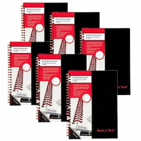 Black n' Red Twinwire Notebook, 5-7/8 x 8-1/4, Legal Rule, 70 Sheets, 6 Pack