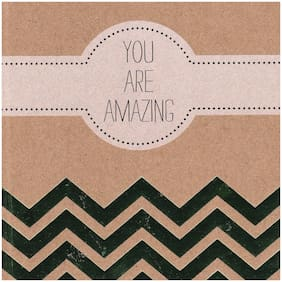 Blank Journal Sketch Book You Are Amazing Travel Diary Scrapbook Tan Gold
