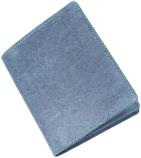 Blessu Genuine Leather Card Holder RFID Protected Blue Colour (Unisex)