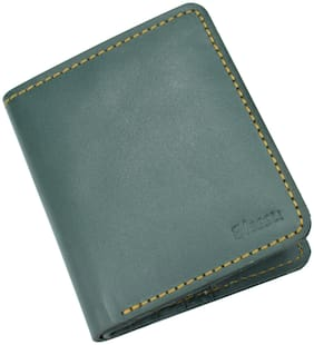 Blessu Genuine Leather Multi Card Holder RFID Protected Green Colour (Unisex)