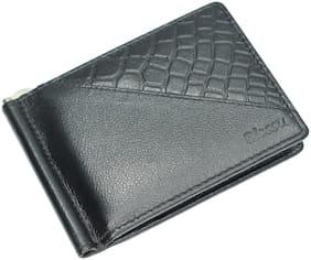 Blessu Genuine Leather Money Clip & Card Holder Black Colour (Unisex)
