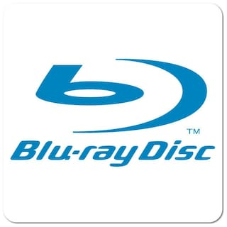 Blu-ray Disc, Blue on White Gloss, Roll of 100 Stickers