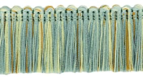 "Blue Gold Pearl|1 3/4"" Brush Fringe Trim