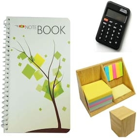 Bluto 3 In 1 Diary;Calculator & sticky Notes Combo