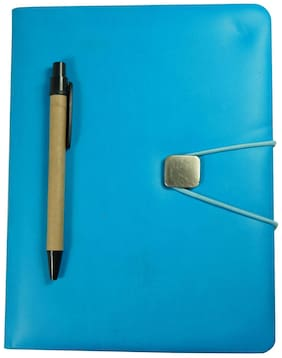 Bluto A5 Leather Executive Diary/Organizer 150 Pages with Cardboard Pen