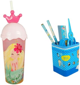 Bluto Kids pen/ pencil stand & sipper Combo