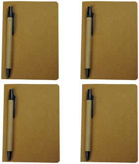 Bluto Set of 4 Diary with 4 pc Pen