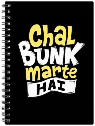 Bluto Chal Bunk Marte Hai Diary A5;80 GSM;192 Pages;single Ruled