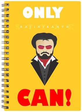 Bluto Only Rajni Can Diary A5;80 GSM;192 Pages;single Ruled