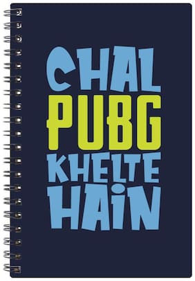 Bluto Chal PubG Khelte Hai Diary A5;80 GSM;192 Pages;single Ruled