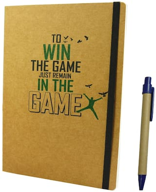 Bluto Win The Game Notebook High Quality 150 Pages Noteboo With Pen