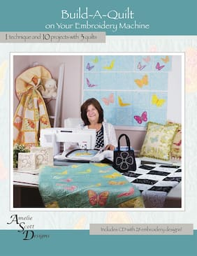 BOOK + CD: Build-A-Quilt On Your Embroidery Machine 28 Designs 10 Projects