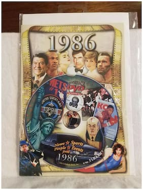 Brand New in Package ~ Flickback 1986 DVD Greeting Card ~ Great Gift Born 1986