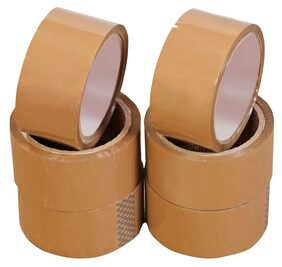 Brown Packaging Tape/BOPP Tape (2x65 m) Pack of 6