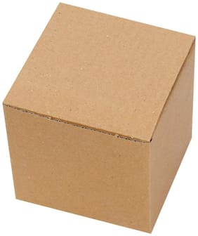 Brown Packaging/Corrugated Boxes 12.7 cm (5 inch)  x  12.7 cm (5 inch)  x  12.7 cm (5 inch) Pack of 50