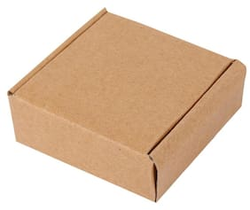 Brown Packaging/Flat Boxes 10.16 cm (4 Inch) x 10.16 cm (4 Inch) x 3.81 cm (1.5 Inch) Pack of 50