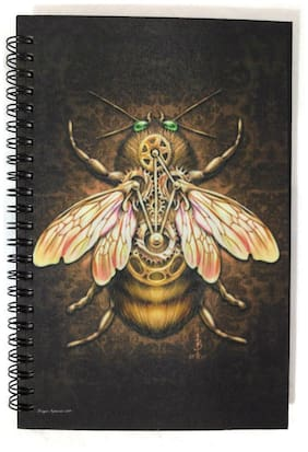 Bumble Honey Bee Journal Note Book Diary Steampunk Insect Art Writing Poet Gift