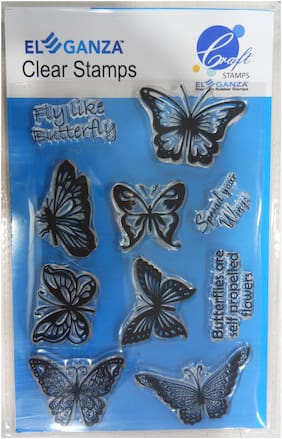 Butterflies Rubber stamp craft