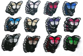 Butterfly Embroidery Premium Patch (Pack of 120 pcs)