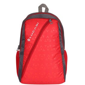 PREMIUM QUALITY RED SCHOOL / COLLEGE / TUITION BAG 24 LITRS 2 + 1 COMPARTMENTS